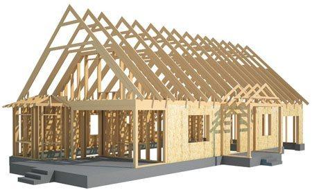 Каркасные дома в Энгельсе. Здания на основе деревянного каркаса